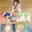 Japanese Anime Jump Shaman King Card x5 pages M010