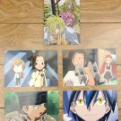 Japanese Anime Jump Shaman King Card x5 pages M023