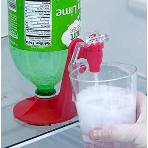 Fizz Saver 2-Liter Soda Soft Drink Dispenser- RED