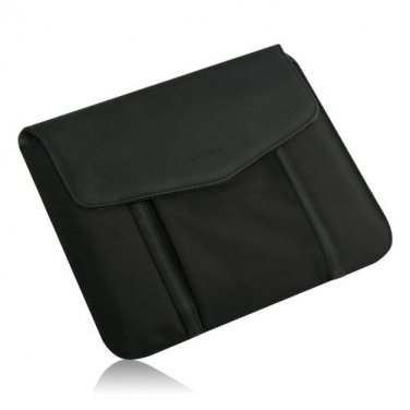Black Leather/ Nylon Tablet Sleeve for all Apple iPads