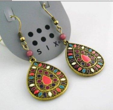 Multicolor Classic Vintage Antique Fashion Pierced Earrings