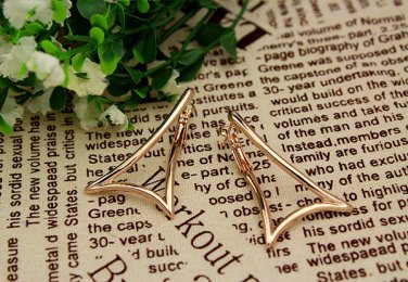 Italina Fashion 18K gold plated hoop Pierced Earrings