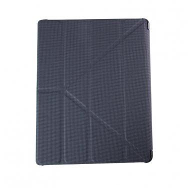 Black Leatherette Smart Cover Case for iPad 2 , iPad 3 , iPad 4