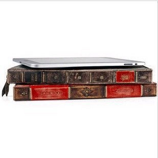 NEW! Retro Vintage Book Style Hardback Leather Case Cover Stand for ipad 2 3 4