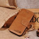 Golden Phoenix Brown Luxury Leather Case Stand for iPhone 5 5G