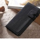 "New! Black Suede Leather Wallet Stand Case For iPhone 6 (4.7"")"