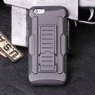 iphone 6 (4.7) Black Armor Swivel Belt Clip Holster Hybrid Hard Case Stand