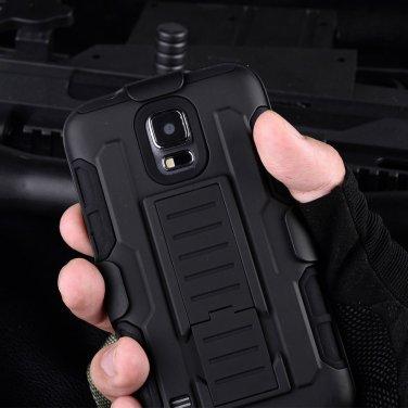 Samsung Galaxy 5 Black Armor Swivel Belt Clip Holster Hard Case Stand