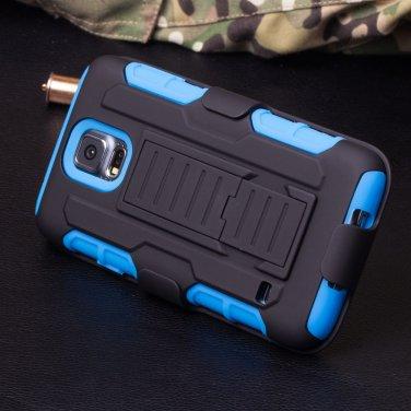 Samsung Galaxy 5 Blue Armor Swivel Belt Clip Holster Hard Case Stand