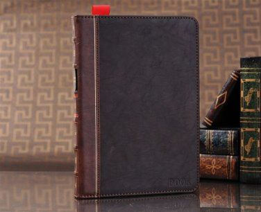 Leather Ipad Mini 1, 2 and 3 Brown Book Case Cover