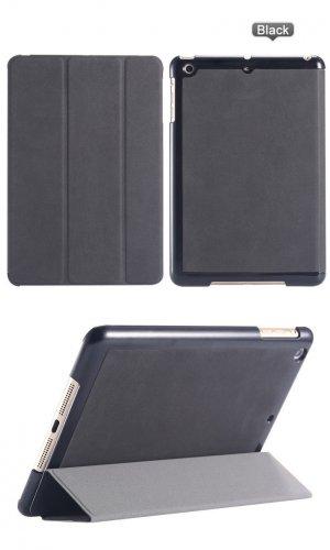 iPad Mini 1 2 & 3 Black Leather Slim Stand Case Cover