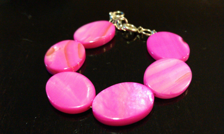 24 Months: Hot Pink Shell Baby & Toddler Bracelet