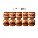 Ten 100ft Hemp 'n' honey sharing size balls
