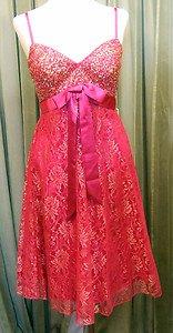 Party dress fuschia