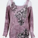 Vocal Clothing - Fleur De Lis and Roses Tattoo Sinful Long Sleeve Shirt