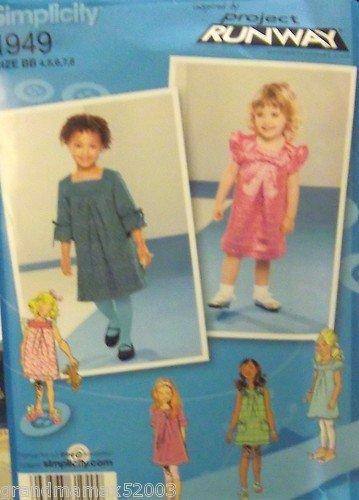 #1949 SIMPLICITY PROJECT RUNWAY CHILDS DRESS WITH YOKE BB PATTERN