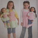 "#2465 SIMPLICITY CHILD'S AND 18"" DOLL APRON  PATTERN"