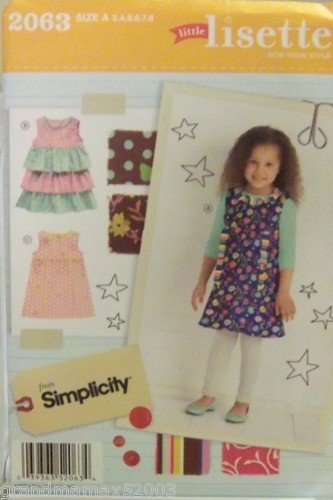 #2063 SIMPLICITY LIL LISETTE CHILD'S DRESSES A PATTERN