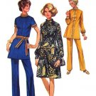 70s Dress, Tunic & Pants Vintage Sewing Pattern Simplicity 9085 UNCUT Bust 36