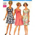 60s Softly Flared Dress Vintage Sewing Pattern Simplicity 8217 Bust 37 Half Size