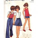 70s Girls Blouse Skirt Pants & Shorts Vintage Sewing Pattern Butterick 6190 Size 8