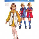 1970s Girls Dress & Vest Vintage Pattern Simplicity 8900 Size 12.5 Chubbies