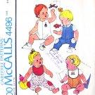 Infants Overall Romper Shirt & Bib Vintage Pattern Mccalls 4496 Size 6 months