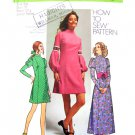 70s Princess Dress Vintage Sewing Pattern Simplicity 9625 Bust 31 Junior Petite