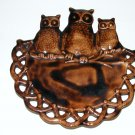 CERAMIC OWLS WALL PLAQUE HANGER