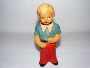 WOODEN-ANTIQUE-HAND CRAFTED DOLL-CZECHOSLOVAKIA