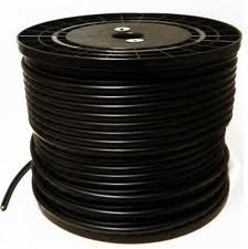 Economical RG-59/U Siamese cable. 500 FT with Power/Video Black Color