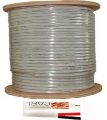 Economical RG-59/U Siamese cable. 1000 FT with Power/Video White Color