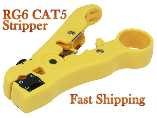 Coax Cable Cutter Wire Stripper Stripping Tool for RG6 RG59 RG7 TV Satellite