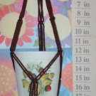 Macrame Plant Hanger mini 20in FRIENDSHIP - DarkBROWN