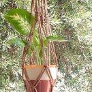 Macrame Plant Hanger 24in Vintage **Cinnamon**