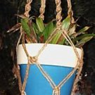 Macrame Plant Hanger 28in Button Knot 3ply natural JUTE