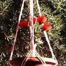 Macrame Plant Hanger 36 in Vintage **PINK**