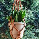 Macrame Plant Hanger BEADED 24 in **CINNAMON**
