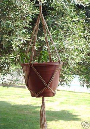 Macrame Plant Hanger 30in Vintage **SAND**  (4mm)