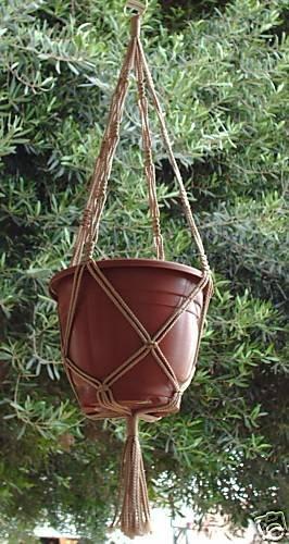 Macrame Plant Hanger 36in Vintage *SAND* (4mm)