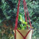 Macrame Plant Hanger 36 in Vintage **Cranberry**