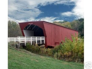 Original Photo of Roseman Bridge in Beautiful Madison County  11x14