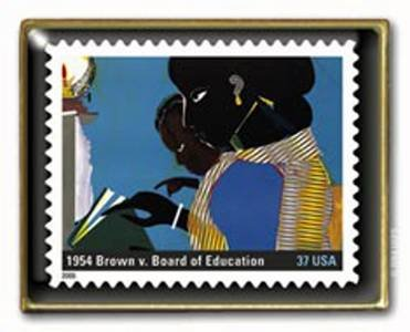 Brown vs Board Education Stamp pin Black History 3937j