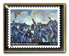 Black History March on Washington Stamp pin lapel pin  3937h S