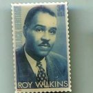 Roy Wilkins stamp pin lapel pins tie tac Black Heritage 3501 S
