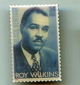 Roy Wilkins stamp pin lapel pins tie tac Black Heritage 3501 S