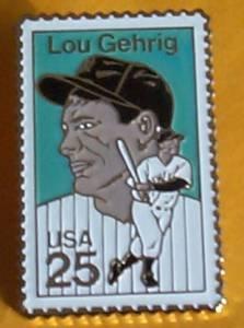 New York Yankees Lou Gehrig  Stamp pin baseball  lapel pins hat 2417 S