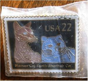 Siamese Shorthair Cat Stamp Pin lapel pins hat 2372 exc