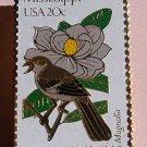 Mississippi MS Mockingbird Magnolia stamp pin lapel 1976 s
