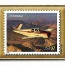 Bonanza 35 Aircraft Aviation stamp pin lapel pins hat 3624